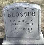 BLOSSER, ELIZABETH - Montgomery County, Ohio | ELIZABETH BLOSSER - Ohio Gravestone Photos