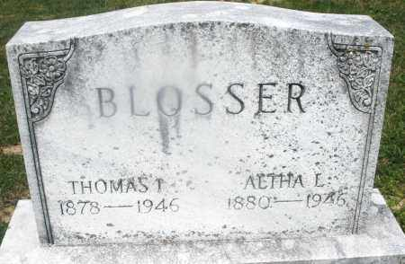 BLOSSER, ALTHA L. - Montgomery County, Ohio | ALTHA L. BLOSSER - Ohio Gravestone Photos