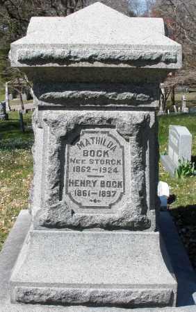 BOCK, MATILDA - Montgomery County, Ohio | MATILDA BOCK - Ohio Gravestone Photos
