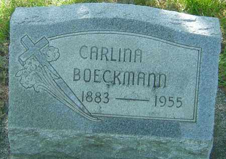 BOECKMANN, CARLINA - Montgomery County, Ohio | CARLINA BOECKMANN - Ohio Gravestone Photos