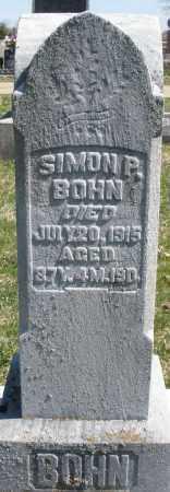 BOHN, SIMON P. - Montgomery County, Ohio | SIMON P. BOHN - Ohio Gravestone Photos