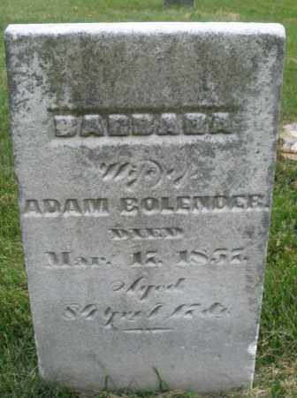 BOLENDER, BARBARA - Montgomery County, Ohio | BARBARA BOLENDER - Ohio Gravestone Photos