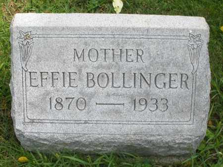 BOLLINGER, EFFIE - Montgomery County, Ohio | EFFIE BOLLINGER - Ohio Gravestone Photos