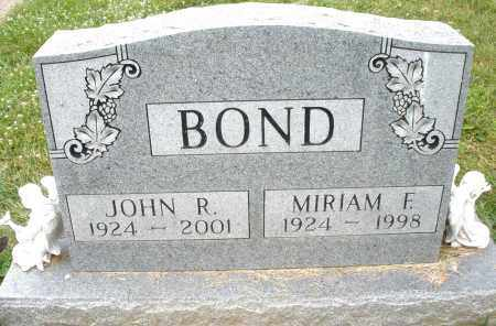 BOND, JOHN R. - Montgomery County, Ohio | JOHN R. BOND - Ohio Gravestone Photos
