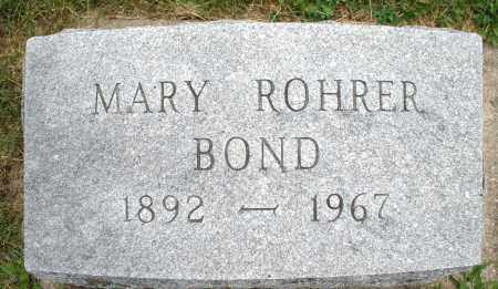 BOND, MARY - Montgomery County, Ohio | MARY BOND - Ohio Gravestone Photos