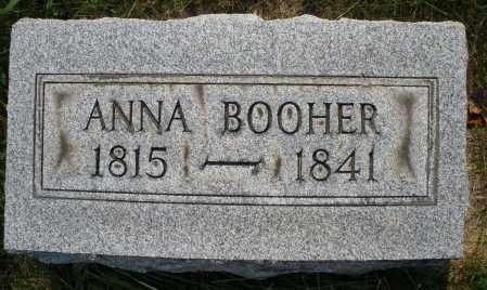 BOOHER, ANNA - Montgomery County, Ohio | ANNA BOOHER - Ohio Gravestone Photos