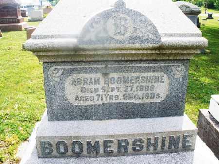 BOOMERSHINE, ABRAM - Montgomery County, Ohio | ABRAM BOOMERSHINE - Ohio Gravestone Photos