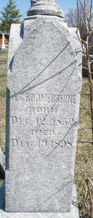 BOOMERSHINE, A.G. - Montgomery County, Ohio | A.G. BOOMERSHINE - Ohio Gravestone Photos