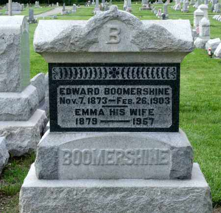 BOOMERSHINE, EDWARD - Montgomery County, Ohio | EDWARD BOOMERSHINE - Ohio Gravestone Photos