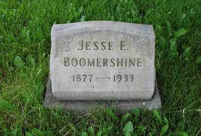 BOOMERSHINE, JESSE E. - Montgomery County, Ohio | JESSE E. BOOMERSHINE - Ohio Gravestone Photos