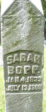 BOPP, SARAH - Montgomery County, Ohio | SARAH BOPP - Ohio Gravestone Photos