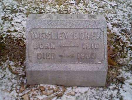 BOREN, WESLEY - Montgomery County, Ohio | WESLEY BOREN - Ohio Gravestone Photos
