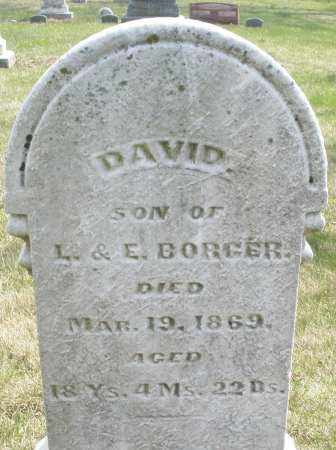 BORGER, DAVID - Montgomery County, Ohio | DAVID BORGER - Ohio Gravestone Photos