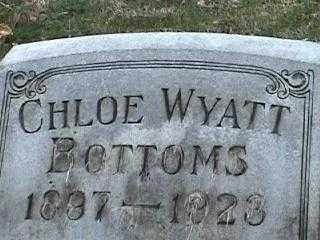 WYATT BOTTOMS, CHOLE - Montgomery County, Ohio | CHOLE WYATT BOTTOMS - Ohio Gravestone Photos
