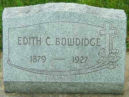 BOWDIDGE, EDITH CLARA - Montgomery County, Ohio | EDITH CLARA BOWDIDGE - Ohio Gravestone Photos