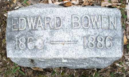 BOWEN, EDWARD - Montgomery County, Ohio | EDWARD BOWEN - Ohio Gravestone Photos