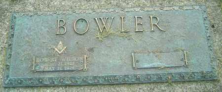 BOWLER, ROBERT WILSON - Montgomery County, Ohio | ROBERT WILSON BOWLER - Ohio Gravestone Photos
