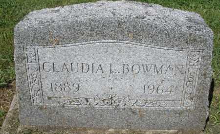 BOWMAN, CLAUDIA L. - Montgomery County, Ohio | CLAUDIA L. BOWMAN - Ohio Gravestone Photos