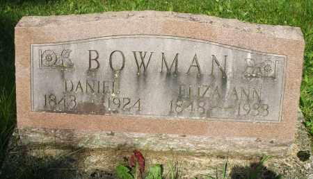 BOWMAN, ELIZA ANN - Montgomery County, Ohio | ELIZA ANN BOWMAN - Ohio Gravestone Photos