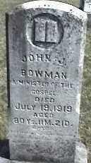 BOWMAN, JOHN J. - Montgomery County, Ohio | JOHN J. BOWMAN - Ohio Gravestone Photos