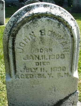 BOWMAN, JOHN - Montgomery County, Ohio | JOHN BOWMAN - Ohio Gravestone Photos