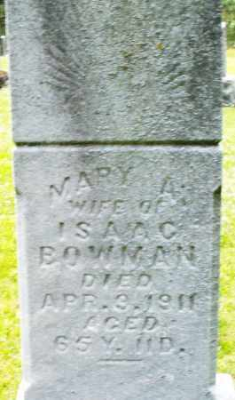 BOWMAN, MARY A. - Montgomery County, Ohio | MARY A. BOWMAN - Ohio Gravestone Photos
