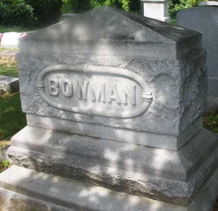 BOWMAN, MONUMENT - Montgomery County, Ohio | MONUMENT BOWMAN - Ohio Gravestone Photos