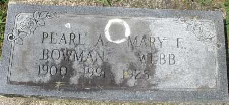 BOWMAN, PEARL A. - Montgomery County, Ohio   PEARL A. BOWMAN - Ohio Gravestone Photos