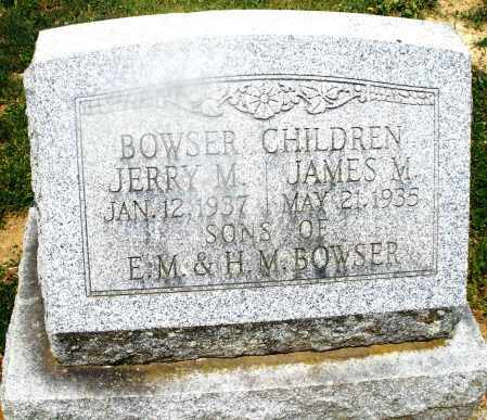 BOWSER, JERRY M. - Montgomery County, Ohio | JERRY M. BOWSER - Ohio Gravestone Photos