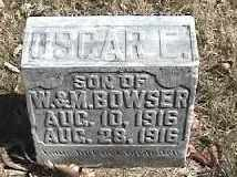 BOWSER, OSCAR C. - Montgomery County, Ohio | OSCAR C. BOWSER - Ohio Gravestone Photos