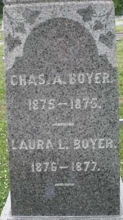 BOYER, CHARLES A. - Montgomery County, Ohio | CHARLES A. BOYER - Ohio Gravestone Photos