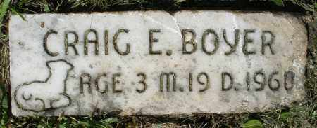 BOYER, CRAIG E. - Montgomery County, Ohio | CRAIG E. BOYER - Ohio Gravestone Photos