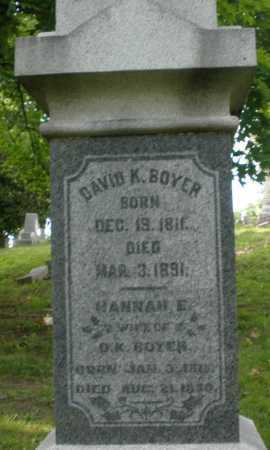 BOYER, DAVID K. - Montgomery County, Ohio | DAVID K. BOYER - Ohio Gravestone Photos