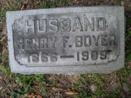 BOYER, HENRY F. - Montgomery County, Ohio | HENRY F. BOYER - Ohio Gravestone Photos