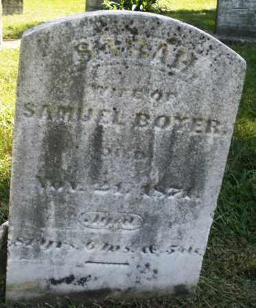 BOYER, SARAH - Montgomery County, Ohio | SARAH BOYER - Ohio Gravestone Photos