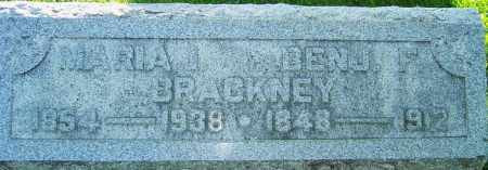 BRACKNEY, BENJAMIN FRANKLIN - Montgomery County, Ohio | BENJAMIN FRANKLIN BRACKNEY - Ohio Gravestone Photos