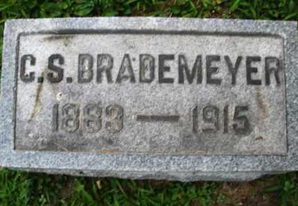 BRADEMEYER, G. S. - Montgomery County, Ohio | G. S. BRADEMEYER - Ohio Gravestone Photos