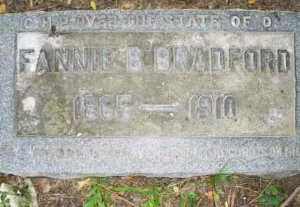 BRADFORD, FANNIE B. - Montgomery County, Ohio | FANNIE B. BRADFORD - Ohio Gravestone Photos