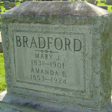 BRADFORD, MARY J - Montgomery County, Ohio | MARY J BRADFORD - Ohio Gravestone Photos