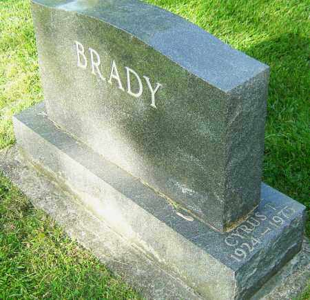 BRADY, CYRUS T - Montgomery County, Ohio | CYRUS T BRADY - Ohio Gravestone Photos