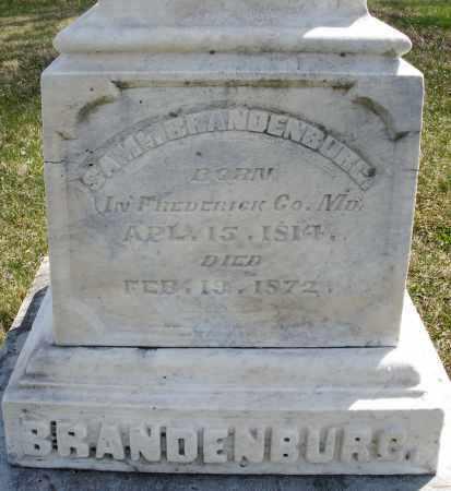 BRANDENBURG, SAMUEL - Montgomery County, Ohio | SAMUEL BRANDENBURG - Ohio Gravestone Photos
