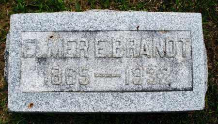 BRANDT, ELMER E. - Montgomery County, Ohio | ELMER E. BRANDT - Ohio Gravestone Photos