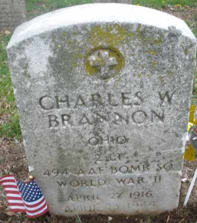 BRANNON, CHARLES  W. - Montgomery County, Ohio | CHARLES  W. BRANNON - Ohio Gravestone Photos