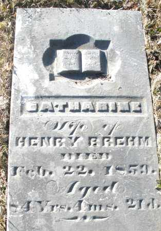 BREHM, CATHARINE - Montgomery County, Ohio | CATHARINE BREHM - Ohio Gravestone Photos