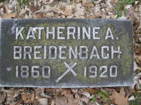 BREIDENBACH, KATHERINE A. - Montgomery County, Ohio | KATHERINE A. BREIDENBACH - Ohio Gravestone Photos
