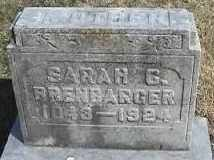 BRENBARGER, SARAH G - Montgomery County, Ohio | SARAH G BRENBARGER - Ohio Gravestone Photos