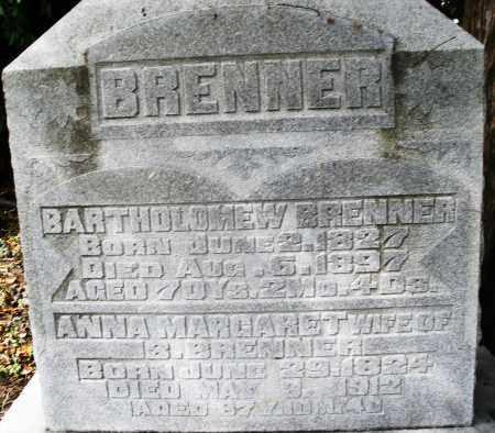 BRENNER, BARTHOLOMEW - Montgomery County, Ohio | BARTHOLOMEW BRENNER - Ohio Gravestone Photos