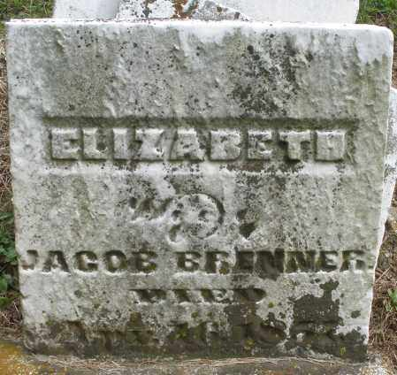 BRENNER, ELIZABETH - Montgomery County, Ohio | ELIZABETH BRENNER - Ohio Gravestone Photos