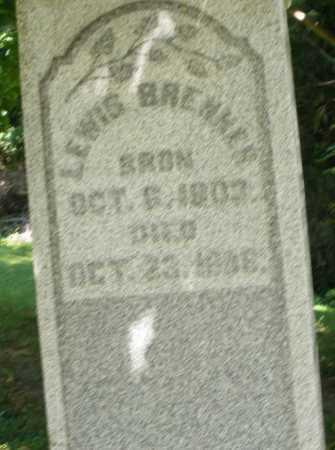 BRENNER, LEWIS - Montgomery County, Ohio | LEWIS BRENNER - Ohio Gravestone Photos