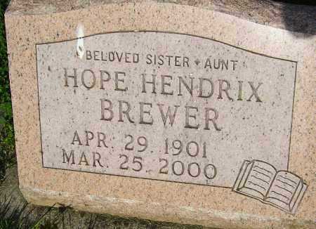 HENDRIX BREWER, HOPE - Montgomery County, Ohio | HOPE HENDRIX BREWER - Ohio Gravestone Photos